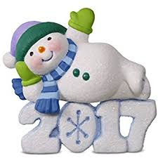 hallmark keepsake 2017 snowman grandson dated