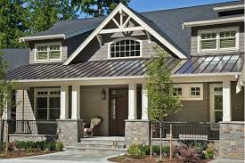 gray craftsman house with metal roof google search loft
