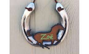 personalized horseshoes personalized room sign recycled horseshoe horses aftcra