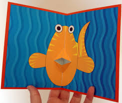 Free Kirigami Card Templates Fish Pop Up Card Template From Creativecenter Br Nana Cards