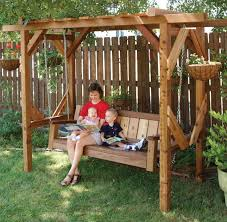 arbor swing plans free astounding pergola for swing plans garden landscape