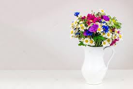White Ceramic Jug Vase Wildflowers In White Ceramic Jug U2014 Stock Photo 4 S Ukr Net