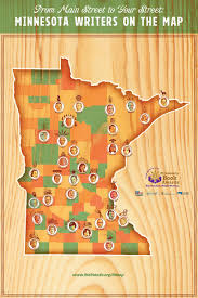 Mn State Park Map by Literary Map Friends Of The St Paul Public Library