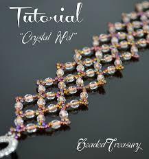 beading bracelet crystal images Crystal net beadwoven bracelet tutorial with fire polished beads jpg