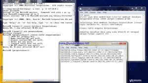 membuat database lewat cmd cara membuat database perpustakaan dengan database mysql stmik