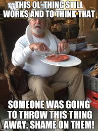 Table Throw Meme - man with toilet seat as tray table latest memes imgflip