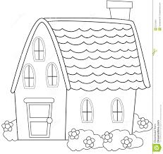 coloring page book for kids house stock images image 14446924