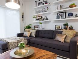 How To Decorate A Long Wall In Living Room 12 Living Room Ideas For A Grey Sectional Hgtv U0027s Decorating