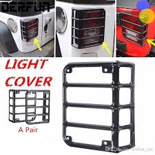 jeep light covers for jeep wrangler light covers 2007 2016 black metal