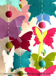 bugs and fishes by lupin free craft ideas butterflies