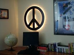 peace sign bedroom peace sign decor for bedroom wall art design ideas yellow round