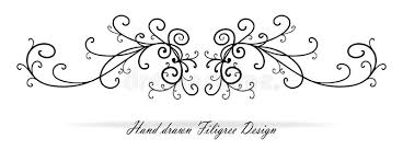wedding design beautiful fancy scroll design paragraph or text underline