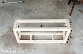 How To Build A Farmhouse Bench How To Build And Upholster This Easy Farmhouse Bench Part 1