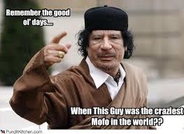 Gaddafi Meme - gaddafi aging tyrant shows his wares
