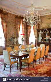 formal dining room of swan house atlanta georgia stock photo