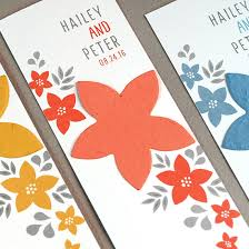 seed paper favors floral seed paper bookmark plantable seed wedding favors