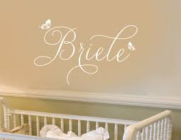 Wall Name Decals For Nursery Impressive Wall Name Decal Sle Wallpaper Family Briele Bird