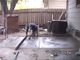 How To Build A Cement Patio Pouring A Concrete Or Cement Patio Slab Youtube