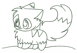 kawaii chibi kitten coloring free printable coloring pages