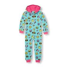 emoji robe baby girls long sleeve emoji print hooded robe blue the