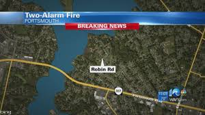 Tcc Virginia Beach Map by Units On Scene For Fire On Robin Road In Portsmouth Youtube