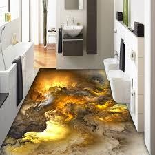 Bathroom Wallpaper Modern - aliexpress com buy 3d flooring wallpaper modern personality