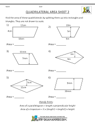 Free Printable Shapes Worksheets Printable Geometry Worksheets Quadrilateral Area 2 5th Grade