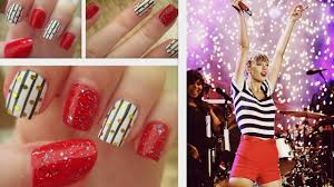 taylor swift u0027red tour u0027 inspired nails youtube