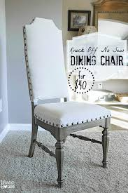 Recovering An Armchair Knock Off No Sew Dining Chairs Bless U0027er House