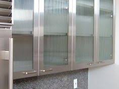 Saw Rain Glass Cupboards At Menards And Loved Them Kitchen - Kitchen cabinets with frosted glass doors