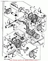 yamaha xv500 virago 1983 d usa carburetor schematic partsfiche