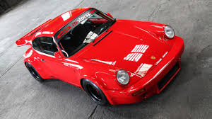 red porsche truck 1974 porsche 911 tuned to look bloody delicious