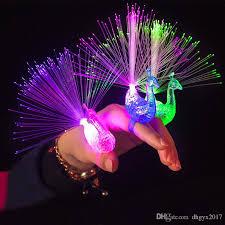led light up rings led peacock finger lights led light up rings led creative children