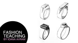 how to draw rings youtube