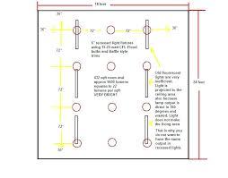 recessed lighting layout program best spacing idea locations