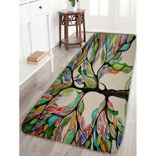 Colorful Bathroom Rugs Colorful Tree Print Coral Fleece Bath Rug In Colorful W16 Inch