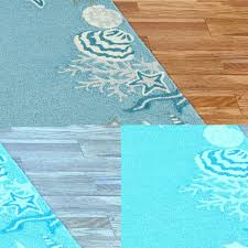 Flower Bath Rug Area Rugs Amazing Seashell Area Rugs Nautical Runners Starfish