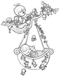 precious moments angels coloring pages bing images presious