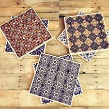 moroccan ceramic coaster set of 6 moroccan home decor middle