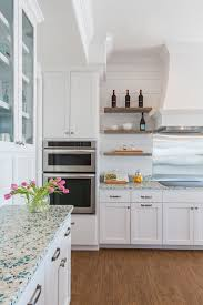 Kitchen Countertops White Cabinets Recycled Glass Countertop Laura U Interior Design Cool