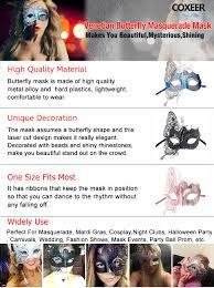 amazon com metal with rhinestone laser cut ladies masquerade