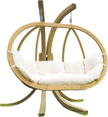 Double Swing Globo Royal White Double Hanging Chair Wood Hammocks Hanging Chairs