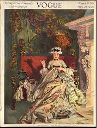 vogue cover illustration of a 18th century french by frank x
