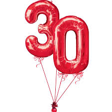 number balloons delivered 30th birthday number balloon delivered helium filled 30th balloon