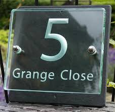 glass door number signs name in glass and slate by tim carter