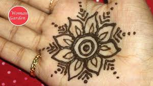 easy mehndi design for beginners step by step woman garden