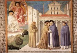 vision of st dominic and meeting of st francis and st dominic