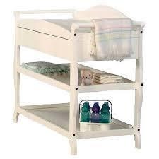 badger basket modern changing table with hamper 3 baskets white