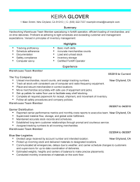 Resume Job Description For Forklift Operator by Best Team Members Resume Example Livecareer