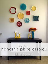 hanging plate display the how to mom